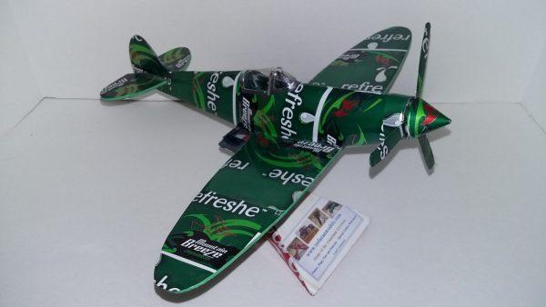 Pop can airplane Supermarine Spitfire
