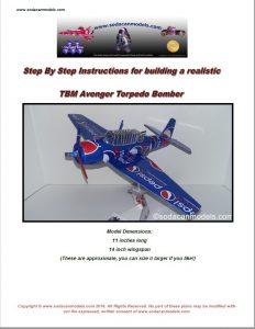 soda can airplane plans TBm Avenger
