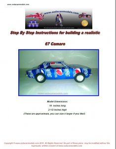 Popcan 67 Camaro plans