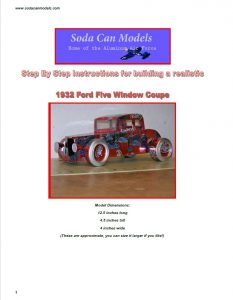 Popcan Five Window Coupe plans