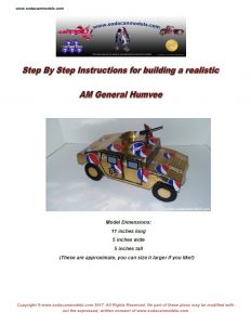 Popcan AM General Humvee plans