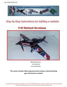 Pop can airplane P-40 Warhawk plans