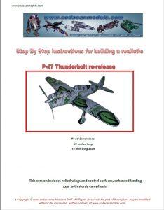 Popcan airplane P-47 Thunderbolt plans