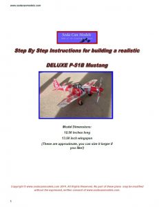 Pop can airplane P-51B Mustang plans