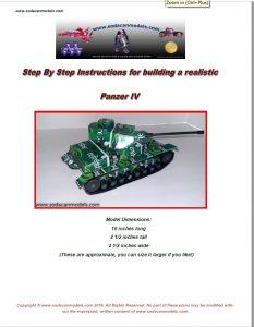 PopCan tank Panzer IV plans