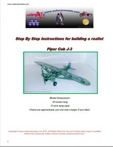 Popcan airplane Piper Cub Plans