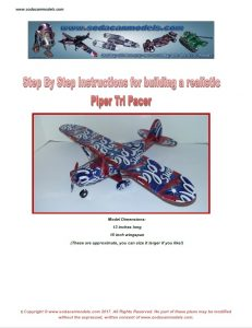 Pop can airplane Piper Tri-pacer plans