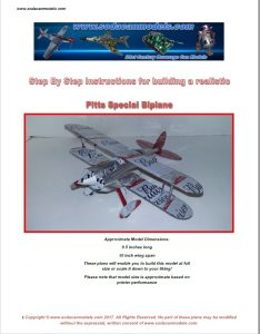 Popcan airplane Pitts Special plans