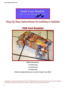 Popcan 32 Ford Roadster plans