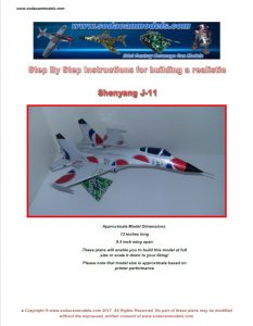 Popcan airplane Shenyang J-11 plans
