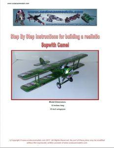Pop can biplane Sopwith Camel plans