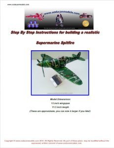 Pop can airplane Supermarine Spitfire plans