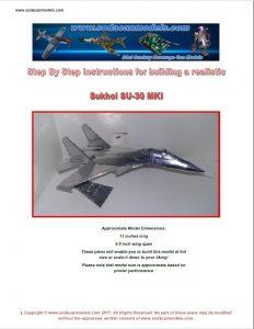 Pop can Airplane Sukhoi SU-30MKI plans