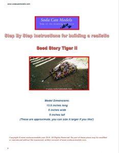 Popcan Tiger II Tank plans