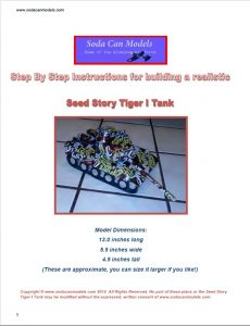 Popcan Tiger Tank plans