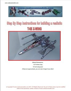 Popcan airplane X-wing plans